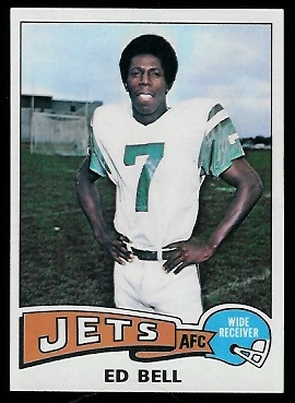 Ed Bell 1975 Topps football card