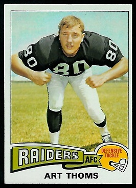 Art Thoms 1975 Topps football card