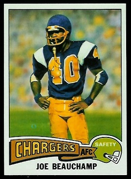 Joe Beauchamp 1975 Topps football card