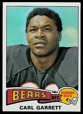 Carl Garrett 1975 Topps football card