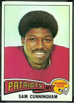 Sam Cunningham 1975 Topps football card