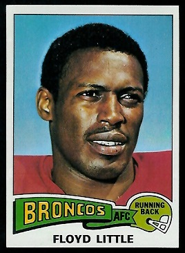 Floyd Little 1975 Topps football card