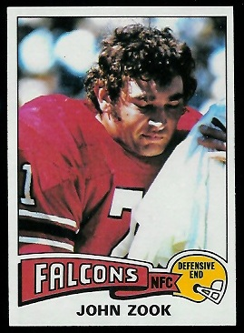 John Zook 1975 Topps football card