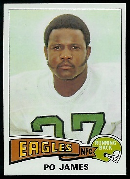 Po James 1975 Topps football card
