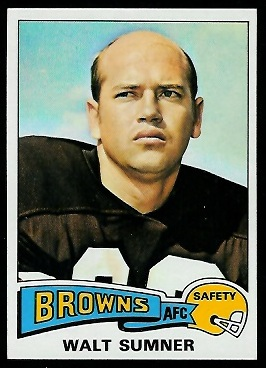 Walt Sumner 1975 Topps football card