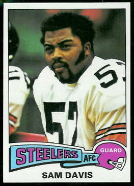 Sam Davis 1975 Topps football card