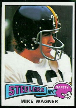 Mike Wagner 1975 Topps football card
