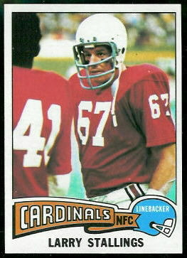 Larry Stallings 1975 Topps football card