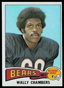 Wally Chambers 1975 Topps football card
