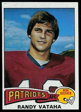 Randy Vataha 1975 Topps football card
