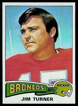 Jim Turner 1975 Topps football card