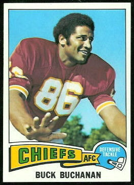 Buck Buchanan 1975 Topps football card
