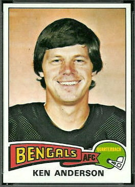 Ken Anderson 1975 Topps football card