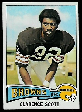 Clarence Scott 1975 Topps football card