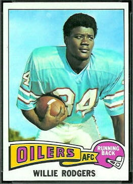 Willie Rodgers 1975 Topps football card
