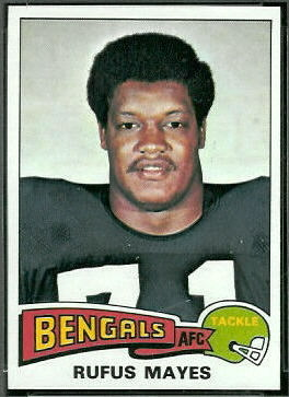 Rufus Mayes 1975 Topps football card