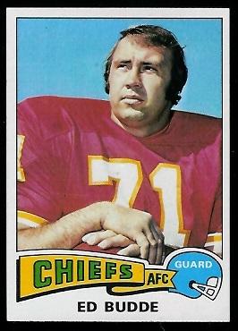 Ed Budde 1975 Topps football card