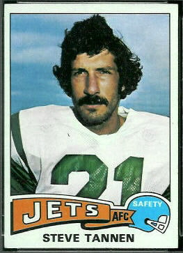 Steve Tannen 1975 Topps football card