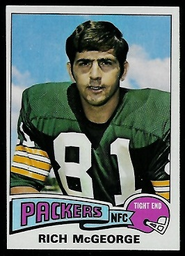 Rich McGeorge 1975 Topps football card