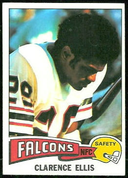 Clarence Ellis 1975 Topps football card