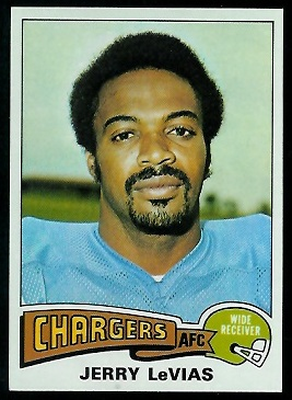 Jerry LeVias 1975 Topps football card