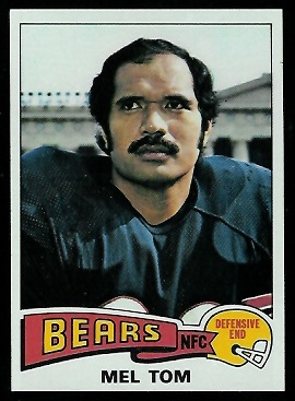 Mel Tom 1975 Topps football card