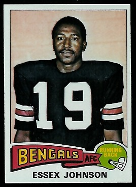 Essex Johnson 1975 Topps football card