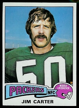 Jim Carter 1975 Topps football card