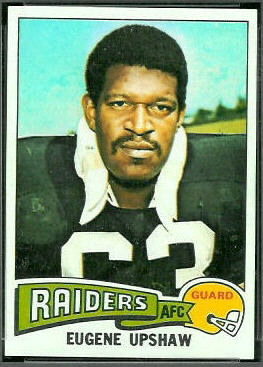 Gene Upshaw 1975 Topps football card