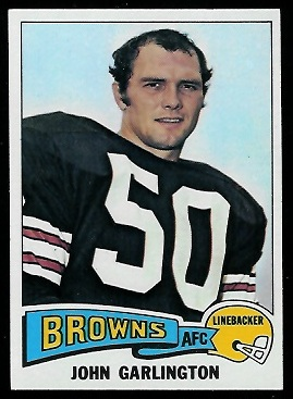 John Garlington 1975 Topps football card