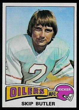 Skip Butler 1975 Topps football card