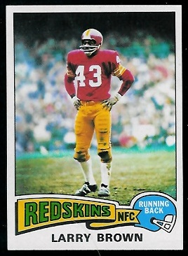 Larry Brown 1975 Topps football card
