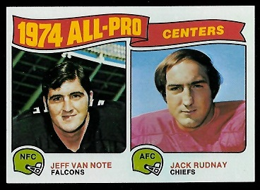 1974 All-Pro Centers 1975 Topps football card