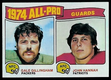 1974 All-Pro Guards 1975 Topps football card