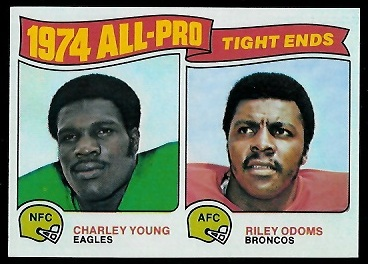 1974 All-Pro Tight Ends 1975 Topps football card