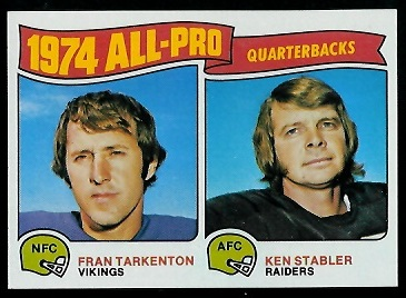 1974 All-Pro Quarterbacks 1975 Topps football card