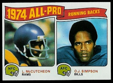 1974 All-Pro Running Backs 1975 Topps football card