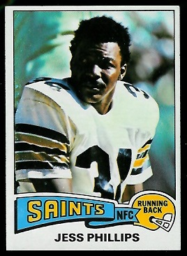 Jess Phillips 1975 Topps football card