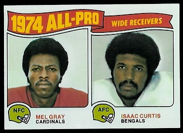 1974 All-Pro Receivers 1975 Topps football card