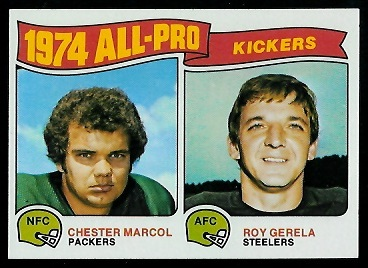 1974 All-Pro Kickers 1975 Topps football card