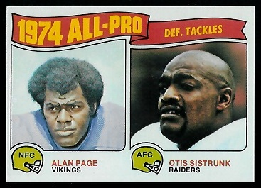 1974 All-Pro Defensive Tackles 1975 Topps football card