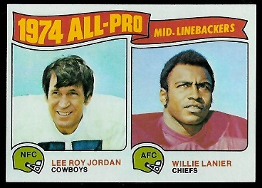 1974 All-Pro Linebackers 1975 Topps football card