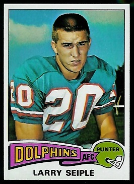 Larry Seiple 1975 Topps football card