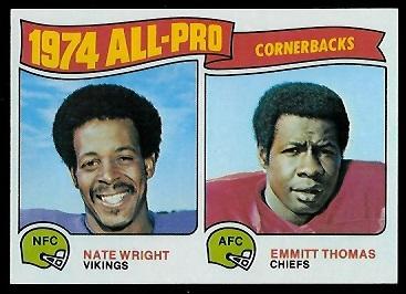 1974 All-Pro Cornerbacks 1975 Topps football card