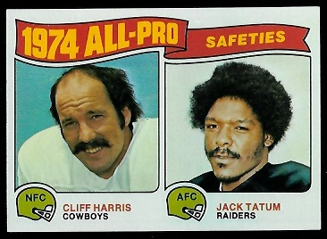 1974 All-Pro Safeties 1975 Topps football card
