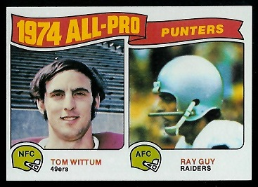 1974 All-Pro Punters 1975 Topps football card