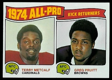 1974 All-Pro Returners 1975 Topps football card