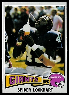 Spider Lockhart 1975 Topps football card