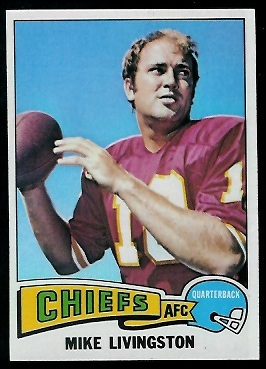 Mike Livingston 1975 Topps football card