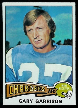 Gary Garrison 1975 Topps football card